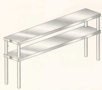 Stainless Steel Double Overshelf