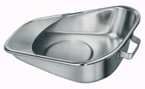 Stainless Steel Fracture Bedpan 11 7/8 L x 9 1/2 W x 2 7/8 H