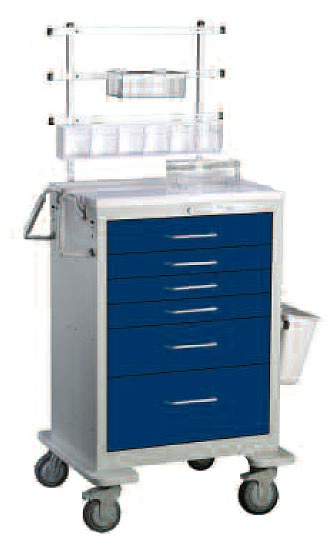 Standard Anesthesia Package for Aluminum Cart