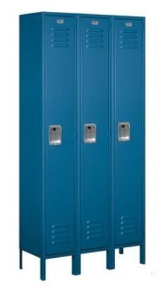Standard Metal Locker, 6 ft tall, Single Tier