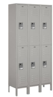 Standard Metal Locker, Double Tier, 6ft, Unassembled