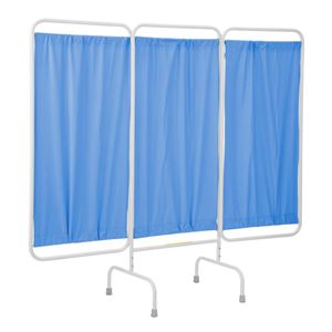 Stationary Antimicrobial 3 Panel Privacy Curtain