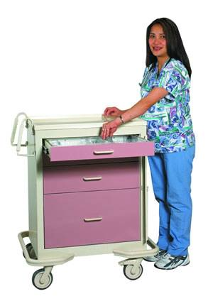 Steel 4 Drawer Emergency Cart w/ Breakaway Lock