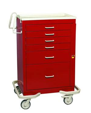 Steel 6 Drawer Emergency Hospital Cart