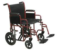 Steel Framed Bariatric Transport Wheelchair