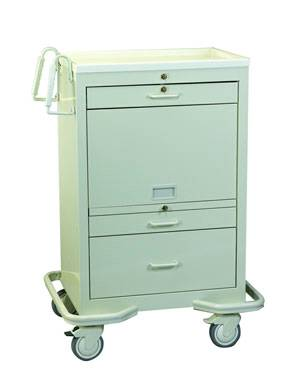 Steel Medication Cart Cassette and Bins