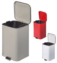 Step On Square Metal Waste Can 20 Quart