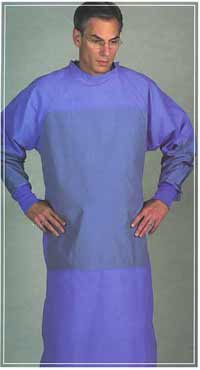 Stericloth Panel-Coverage Surgeons Gowns - Blue