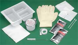 Sterile Tracheostomy Clean  Care Tray with Peroxide and Saline