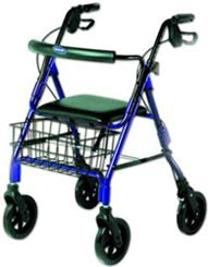 Economy Blue 4-Wheel Rollator