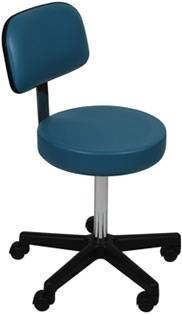Stool w/ Back Rest & Threaded Stem