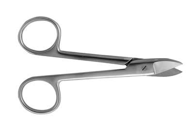 4.5in Crown Serrated Straight Scissors