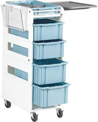 Super Seb Cart- 4 Drawers, Flip Tray Chartholder Supply Cart