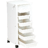 Super Tough 6 Drawer, Roll-up Door Supply Cart