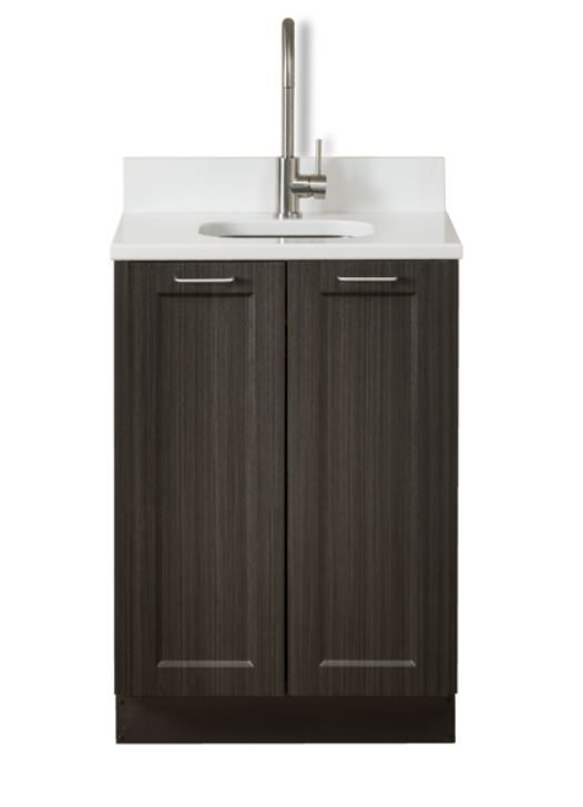Supreme Wood Grain 24in Base Cabinet with 2 Doors