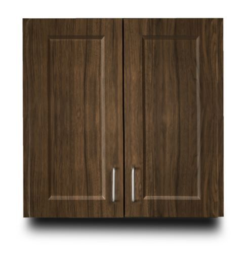 Designer Wood Grain 24in Wall Cabinet with 2 doors