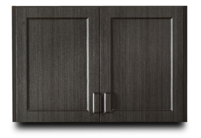 Designer Wood Grain 36in Wall Cabinet with 2 doors