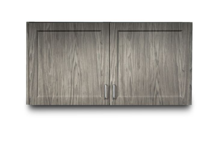 Designer Wood Grain 48in Wall Cabinet with 2 Doors