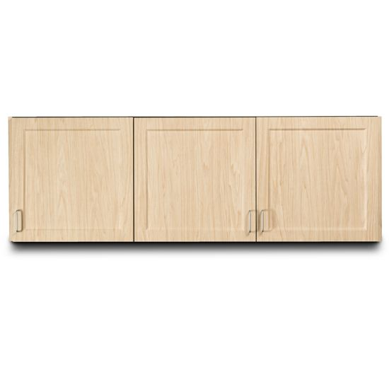 Supreme Wood Grain 72in Wall Cabinet 3 Doors