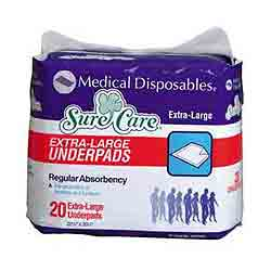 SureCare Disposable Underpads