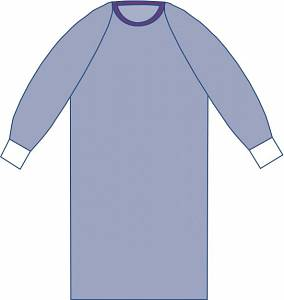 Surgeons Gown Non-Reinforced Polypropylene 50in