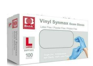 Synmax Vinyl Hybrid Medical Exam Gloves, 1000 case