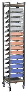 Tall, Open Chart Rack, 15 Binder Capacity