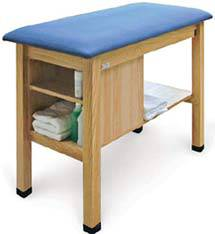 H-Brace Taping Table w/ Shelf