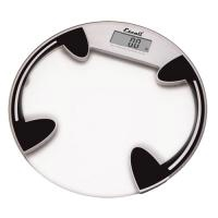 Clear Glass Round Bathroom Scale
