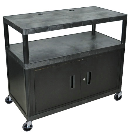 Three Shelf Extra Wide Food Cart