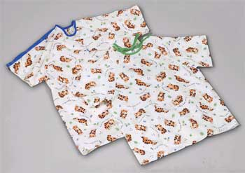 Tired Tiger Pediatric Gowns Small