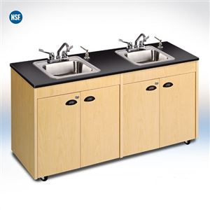 Child Height Portable Sink w/ Storage and Stainless Steel Top