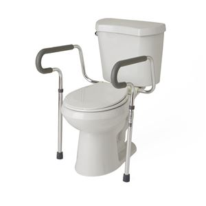 Adjustable Toilet Safety Frame with Foam Armrests