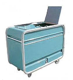 Top Loading Enclosed Fiberglass Waste Collection Cart