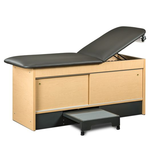 Treatment Table w/ Storage Integrate Stool, 2 Sliding Doors 27in