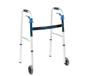 Trigger Release Folding Walker Wheels