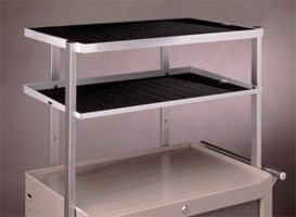 Two-tier Shelving Unit for Aluminum Cart