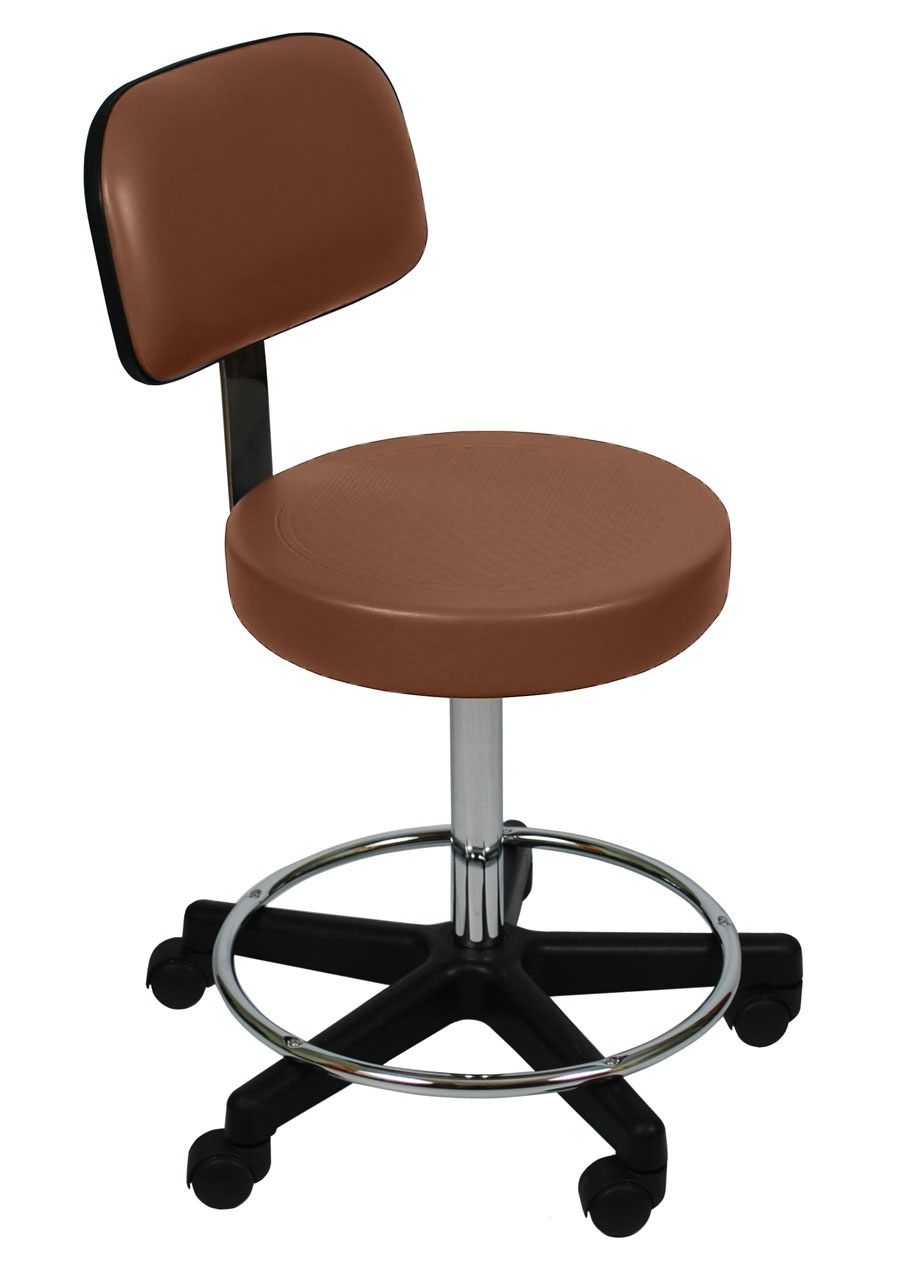 Ultra Comfort Stool w/ Backrest and Foot Ring