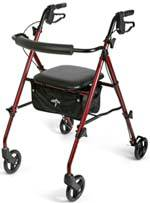 Ultralight 4-Wheel Rollator Walker