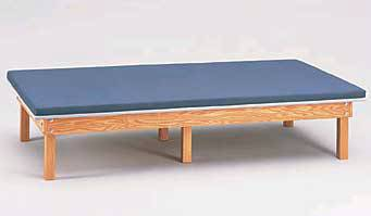Upholstered Mat Platform 18in High, Natural Hardwood