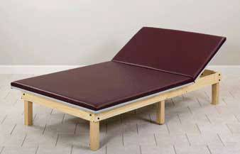 Adjustable Backrest Mat Platform 18in High Natural Hardwood