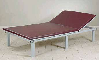 Upholstered Top Mat Platform w/Adjustable Backrest