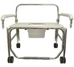 Bariatric Aluminum Commode Chair