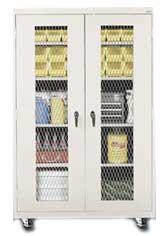 Vandal Resistant Mobile Storage Cabinet