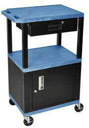 Mobile 2 Shelf Cart w/ Storage