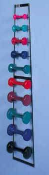 Wall Dumbbell Rack Dumbbells