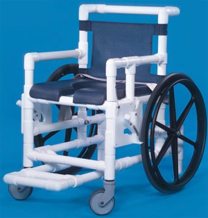 Water-Resistant PVC Shower Chair w/ Padded Seat