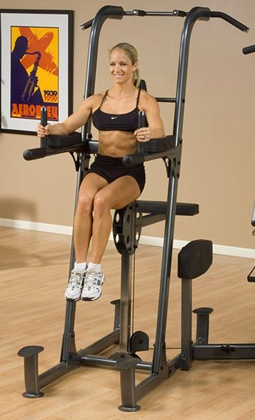 Weight-Assisted Dip and Pull-up Station