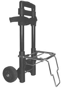 Wheeled Cart for Transport of Portable O2 Concentrator