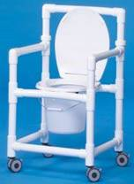 PVC Wheeled Commode